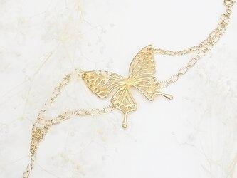 アゲハ蝶のブレスレット(gold)の画像