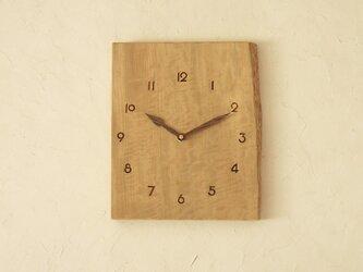 掛け時計 とち材②の画像