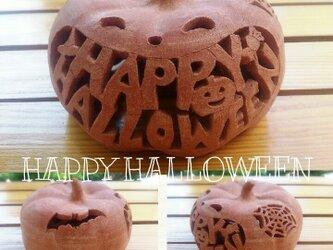 Φ約13cm「HAPPY HALLOWEEN」ハロウィンランタンの画像