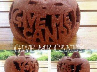 Φ約13cm「GIVE ME CANDY」ハロウィンランタンの画像