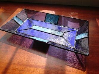 ステンドグラストレー長方形②の画像
