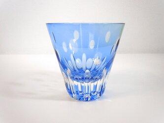 切子グラス プルメリア(青)の画像