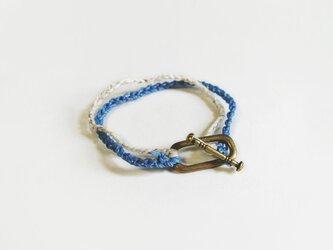 (再販)2色の鎖編み糸のブレスレットの画像