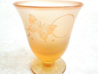 可愛いオレンジのグラス - 蝶々とサークル -の画像