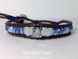 Bijou bracelet -Snow blue-の画像
