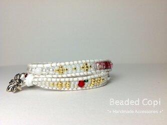 Wrap Bracelet -Snow white-の画像