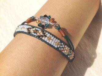 Beading bracelet -Sun flower-の画像