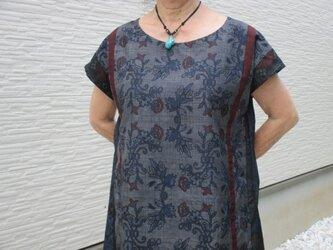 大島紬のチュニック 一点品の画像