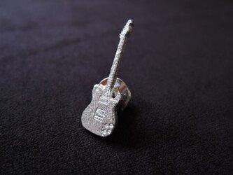 ギターのピンブローチ(テレキャスターカスタム)の画像