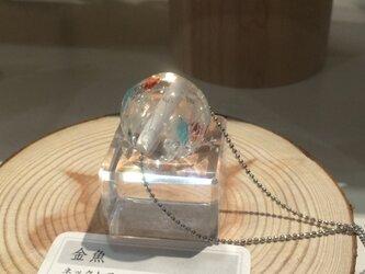 蜻蛉玉のネックレス(金魚)〈A-17〉の画像