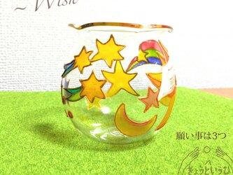 キャンドルホルダー ☆ 願い事は3つ ☆ 金魚鉢形の画像