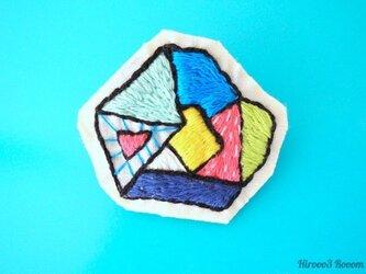 #イロカラ刺繍ブローチ ISB001の画像