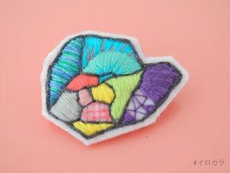 #イロカラ刺繍ブローチ ISB003の画像