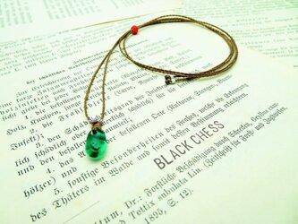 ベネチア産ガラスビーズのネックレス N51の画像