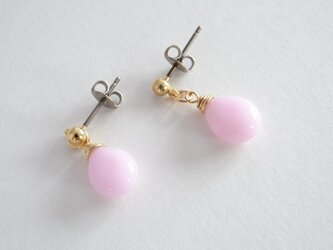 GLASS Larme pierce/earring パウダーピンクの画像