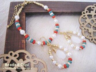 Ehnic bracelet & pierce setの画像