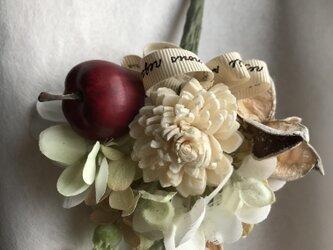 《プレゼント用》小さなコサージュ《赤いリンゴ》の画像