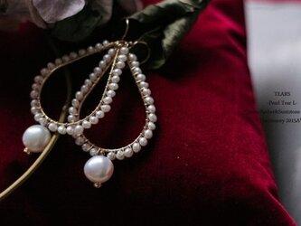 【送料無料】【14kgf】Pearl TearLピアス・イヤリングの画像
