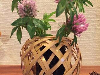 輪口編み花籠の画像
