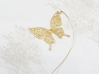 アゲハ蝶のモビールピアス(gold)の画像