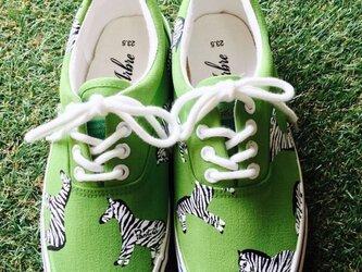 zebra/ladies slip-on《受注製作》の画像