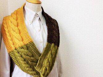 縄編みのスヌード C 2015の画像