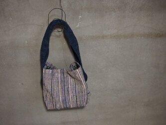 裂き織り/撫子のあじろ織りのショルダーバッグ (+orimi)の画像
