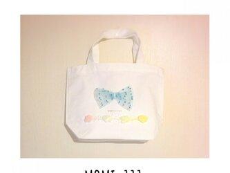 3色から選べる*tulle ribbon bagの画像