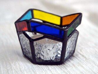 虹のキャンドルスタンドの画像