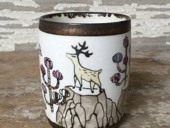 鹿のコップの画像