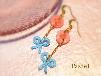 Pastel~リボンゆらゆらピアス/イヤリング(全5色)の画像