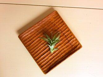 手彫りのパン皿 ケヤキの画像