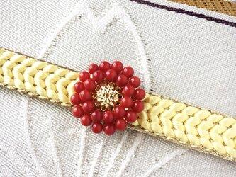 【赤珊瑚・帯留め】アンティークレトロ・還暦祝いや母の日にも人気の画像