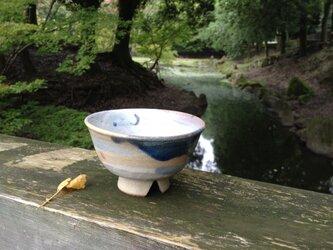 ベージュの割高台茶碗(刷毛目)の画像