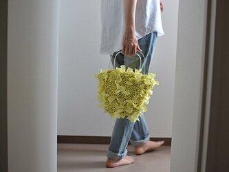 [cyane]basket bag / yellow ×handle:clearの画像