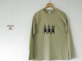 サーカス マレー熊 長袖Tシャツ (メンズ/カーキ)の画像