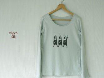 サーカス マレー熊 長袖Tシャツ (レディース/ミント)の画像