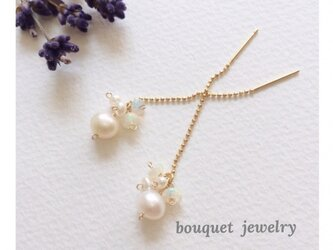 再販×5 opal & pearl pierceの画像