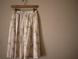 リバティ*Archive Lilac*タック&ギャザースカートの画像