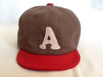 アルファベットキャップ 帆布シリーズ 『A』の画像