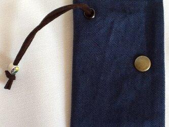 帆布のキーケース ネイビーの画像