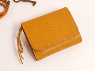 【受注製作】財布 wrap-S [キャメル]の画像