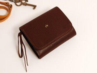 財布 wrap-S [ダークブラウン]の画像
