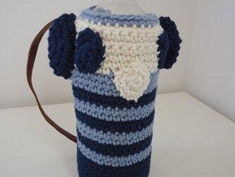 パンダなペットボトルケース(青)の画像