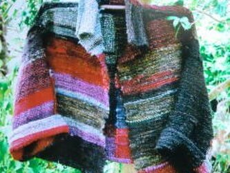 《手織り》ウールのざっくりジャケット の画像