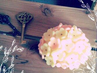 フラワーブーケキャンドルの画像