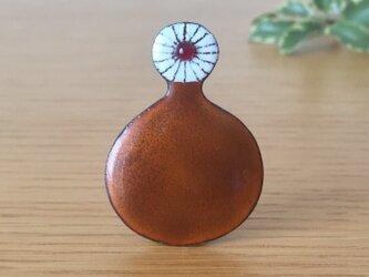 七宝ブローチ「いちりん」の画像