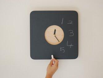 黒板の時計 再販の画像