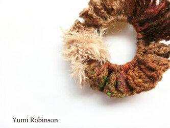 秋色の糸遊びシュシュ*Beautiful Autumの画像