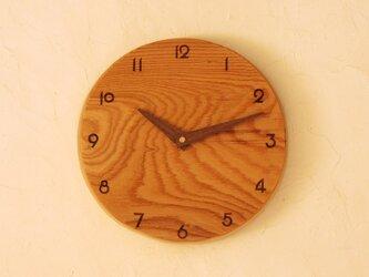 掛け時計 丸 けやき材⑧の画像